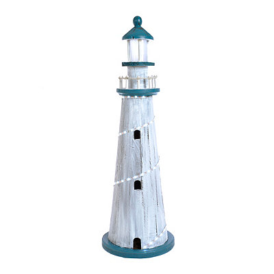 Light-Up Lighthouse Statue