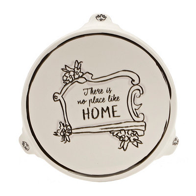 Black and White No Place Like Home Trivet
