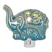 Blue Ceramic Elephant Night Light