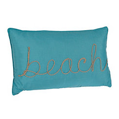 Blue Beach Rope Accent Pillow