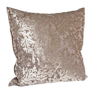 Cara Taupe Coral Pillow