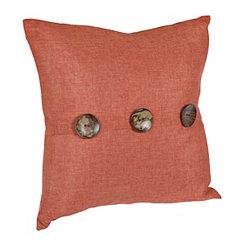 Chelsea Burnt Orange Button Pillow