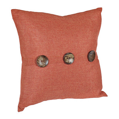 Chelsea Burnt Orange Button Pillow