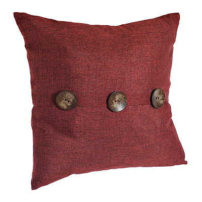 Chelsea Red Button Pillow