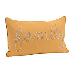 Orange Family Rope Accent Pillow