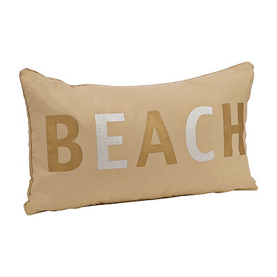 Metallic Beach Accent Pillow