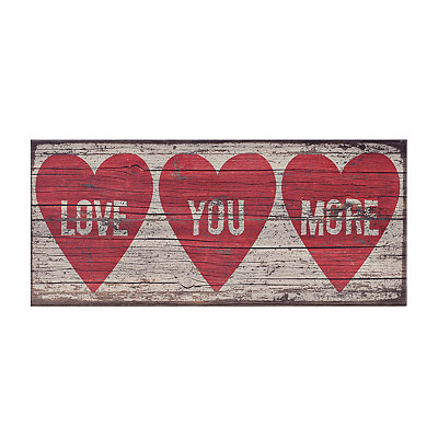 Love You More Wood Plank Plaque