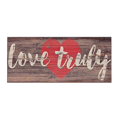 Love Truly Wood Plank Plaque
