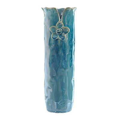 Blue Ceramic Petal Vase