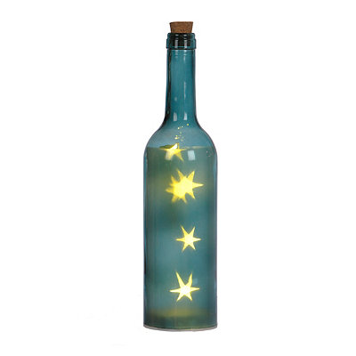 Pre-Lit Blue Decorative Bottle