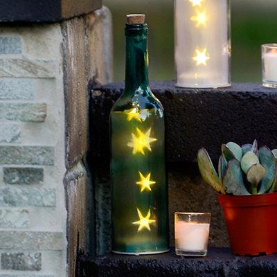 Pre-Lit Blue Decorative Bottle