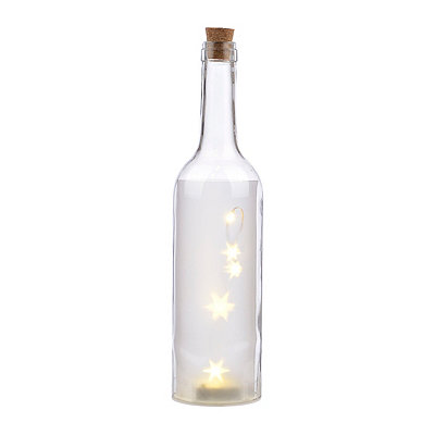 Pre-Lit Clear Decorative Bottle