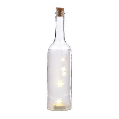 Pre-Lit Clear Decorative Bottle