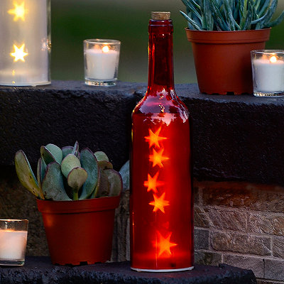 Pre-Lit Red Decorative Bottle