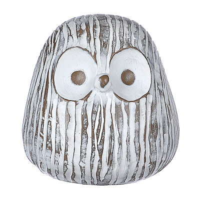 Distressed White Owl Statue