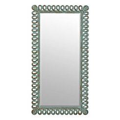 Hannah Distressed Turquoise Loop Mirror