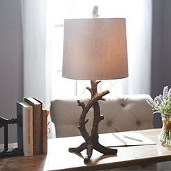 Pewter Branch Table Lamp