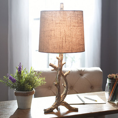 Silver Branch Table Lamp