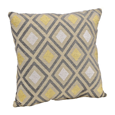 Yellow and Gray Pranna Pillow