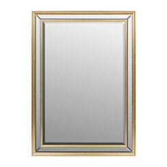 Charlotte Gold Mirrored Framed Mirror, 30x42 in.