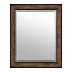 Woodgrain Oak Framed Mirror, 27.5x33.5 in.