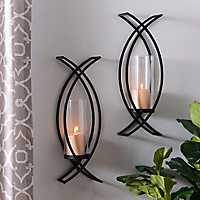 Set of 2 Charlie Crisscross Sconces