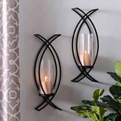 Charlie Crisscross Sconces, Set of 2