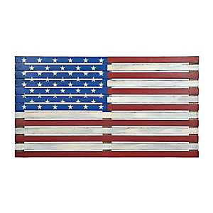 American Flag Wood Plank Plaque