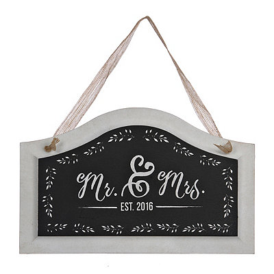 Mr. and Mrs. 2016 Wooden Plaque