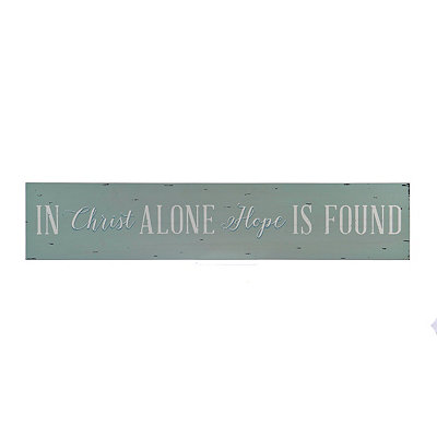 In Christ Alone Wooden Plaque