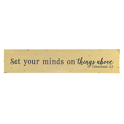 Set Your Mind on Things Above Plaque