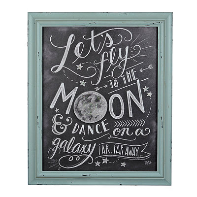 Lets Fly to the Moon Framed Plaque