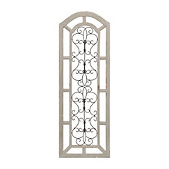 Abigail Arch Wood and Metal Wall Plaque