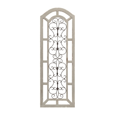 Metal Wall Plaque ornate scroll wood and metal wall plaque | kirklands