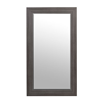 Weathered Blue-Gray Wood Framed Mirror, 31x55 in.