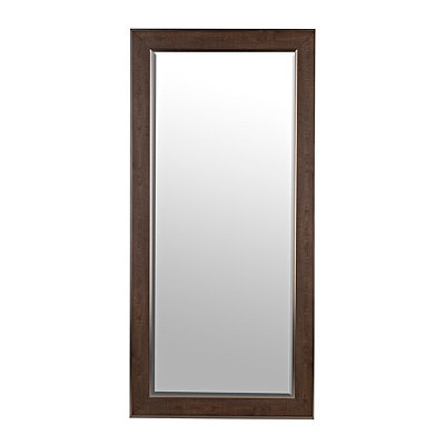 Silver Edges Dark Wood Grain Mirror