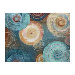 Aqua Spirals Canvas Art Print