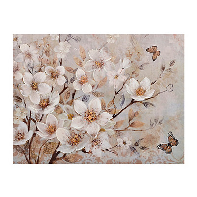 Butterfly Blooms Canvas Art Print