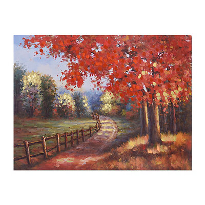 Peaceful Road Canvas Art Print