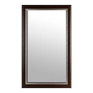 Espresso and Silver Rivets Mirror, 45x75 in.