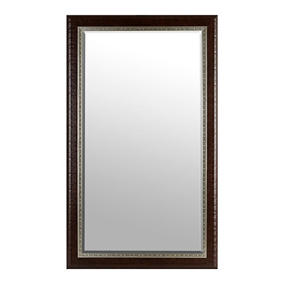 Espresso and Silver Rivets Mirror, 45x75 in.