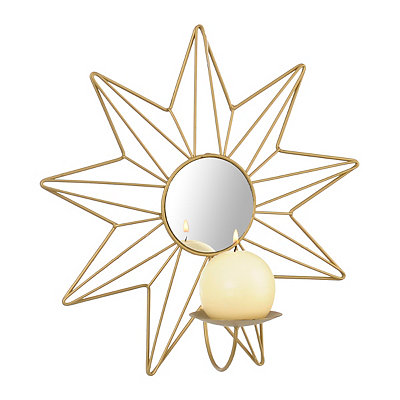 Gold Starburst Sconce