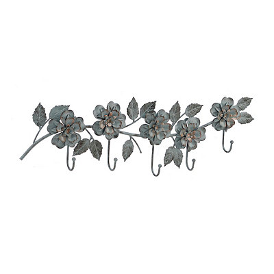 Blue Flower Metal Wall Hook