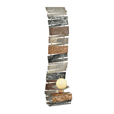 Metallic Stacks Scroll Sconce
