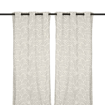 Silver Madeline Curtain Panel Set, 84 in.
