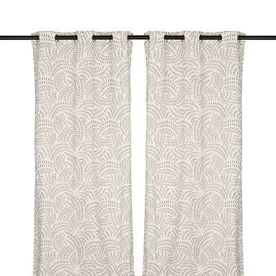 Silver Madeline Curtain Panel Set, 108 in.