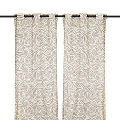 Taupe Madeline Curtain Panel Set, 84 in.