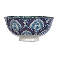 Blue and Green Patterned Tidbit Bowl