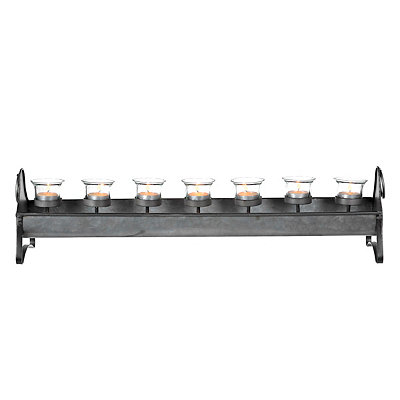 Galvanized Metal Tealight Candle Runner