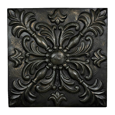 Black Medallion Metal Plaque